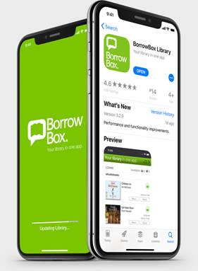 Borrowbox app and logo