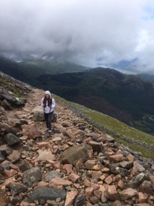 Cassie tackles the stony slopes of Ben nevis