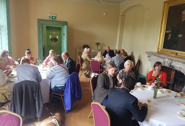Eating afternoon tea at Lightwoods House