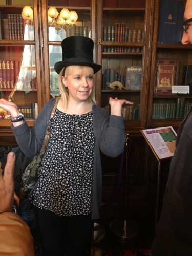 SVI member in top hat at Haden Hill House