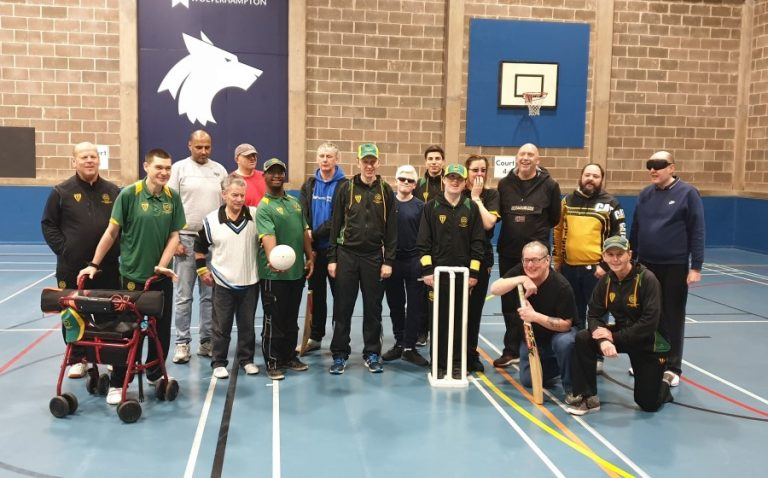 SVI and Staffs and Wolves crickters group shot