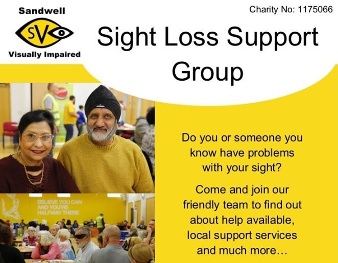 Local Sight Loss Support Group poster